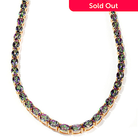 128-820 - NYC II® 42.00ctw Mystic Topaz Tennis Necklace