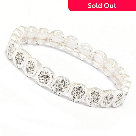 128-868 - Meghan Browne Style Crystal Center ''Emma'' Stretch Bracelet