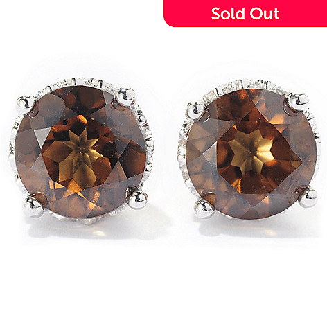 128-912 - Gem Treasures® Sterling Silver 4.60ctw Topaz ''Kellie Anne'' Stud Earrings