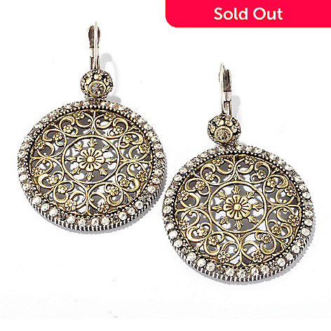128-917 - Sweet Romance Filigree Drop Earrings