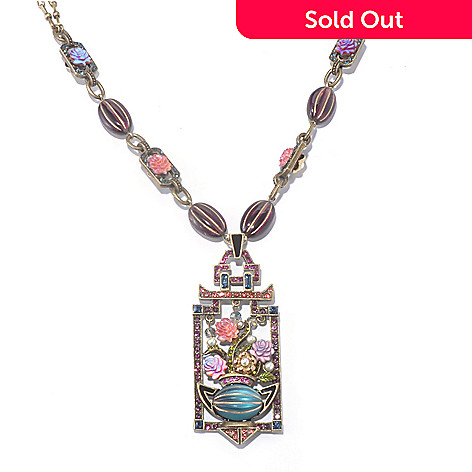 128-928 - Sweet Romance™ 18'' Rose Screen Panel Necklace