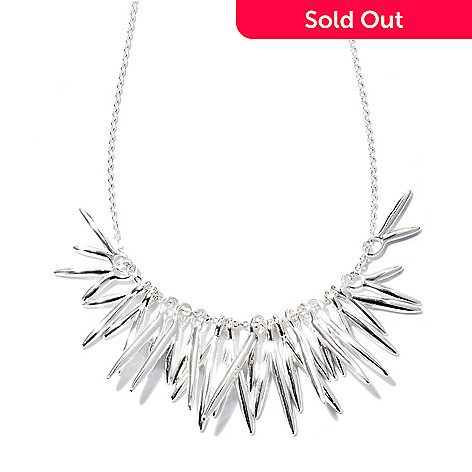 128-939 - Kit Heath Sterling Silver 18'' Polished ''Glacier Freeze'' Necklace