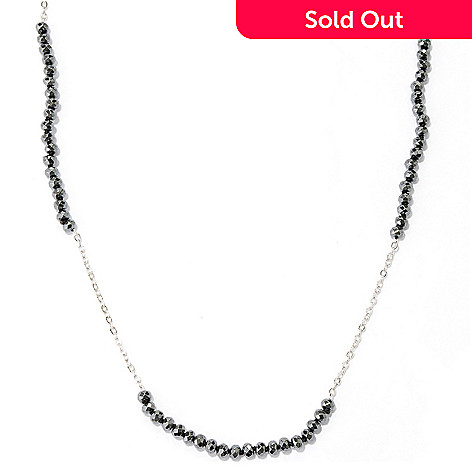 128-948 - Gem Treasures® Sterling Silver 36'' Gemstone Bead Endless Station Necklace
