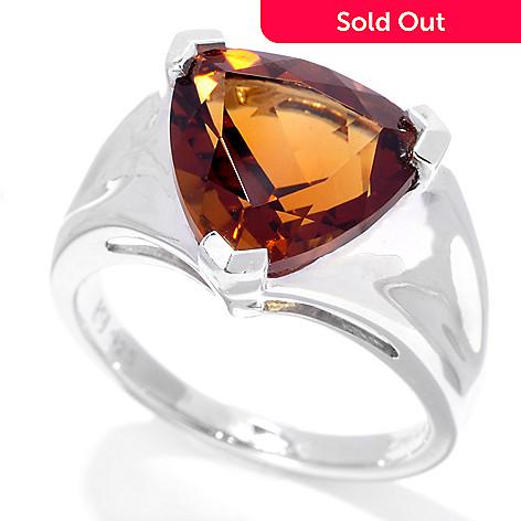 128-962 - Gem Insider™ Sterling Silver 3.04ctw Trillion Shaped Gemstone Ring