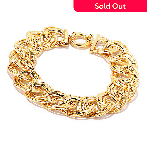129-057 - Italian Designs with Stefano 14K Gold ''Tuscan Sun'' Bracelet, 11.11 grams