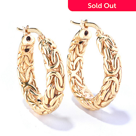 129-063 - Italian Designs with Stefano 14K ''Oro Vita'' Electroform Byzantine Earrings