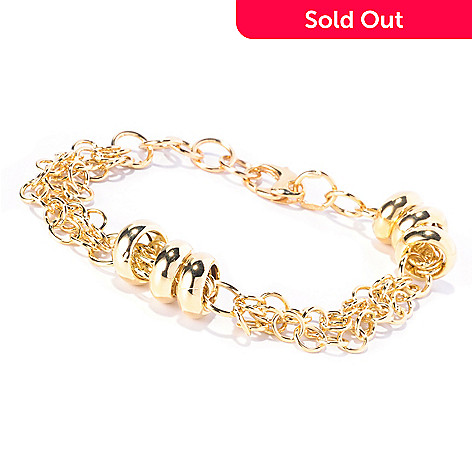 129-065 - Italian Designs with Stefano 14K 7.25'' Satelliti Bracelet, 10.64 grams