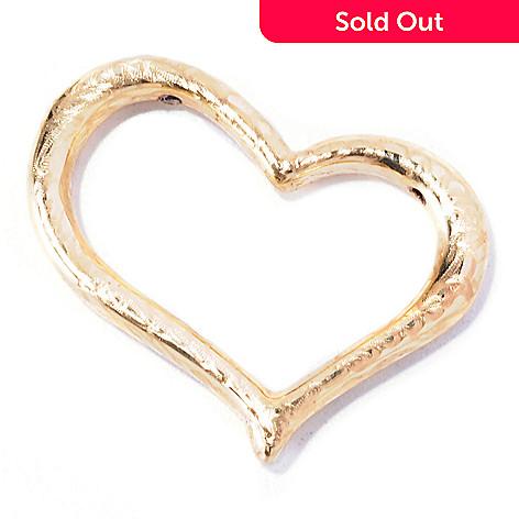 129-066 - Italian Designs with Stefano 14K ''Oro Vita'' Electroform Heart Pendant