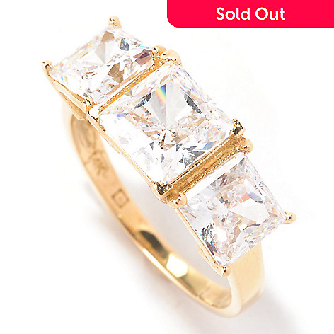 129-083 - Brilliante® 14K Gold Essentials™ 2.50 DEW Simulated Diamond Ring