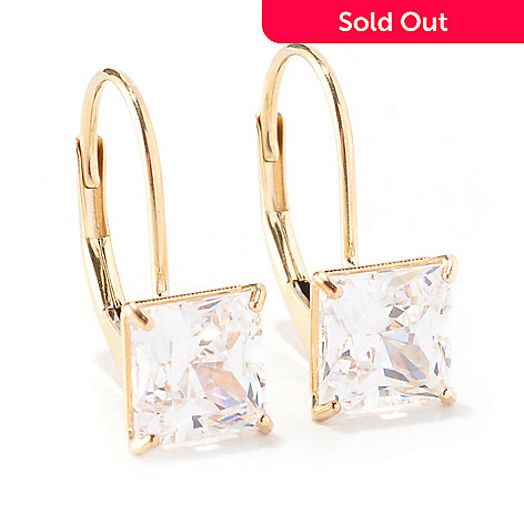 129-086 - Brilliante® 14K Gold Essentials™ 2.00 DEW Lever Back Earrings