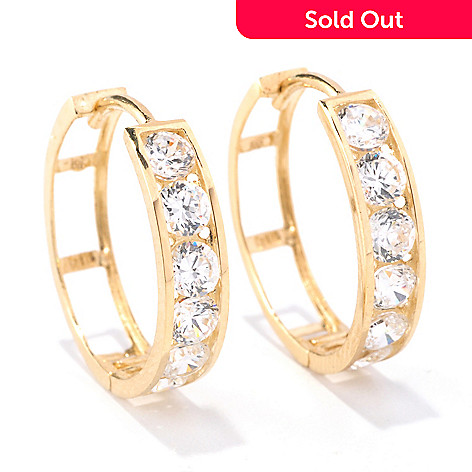 129-088 - Brilliante® 14K Gold Essentials™ 1.20 DEW Simulated Diamond Earrings