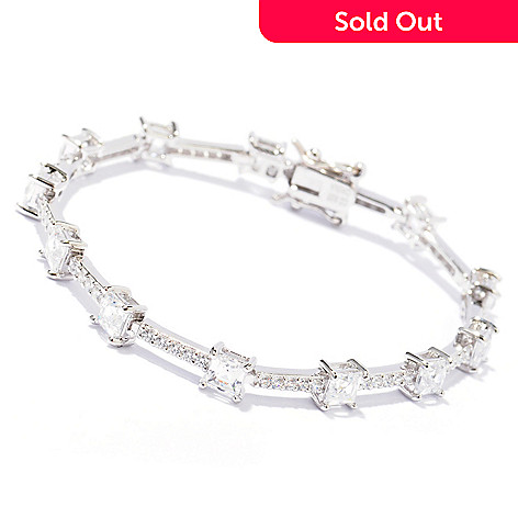 129-213 - TYCOON Square & Round Simulated Diamond Line Bracelet