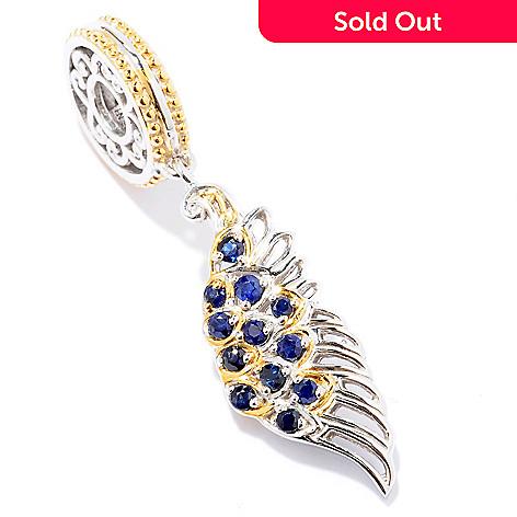 129-241 - Gems en Vogue Sapphire Angel Wing Drop Charm