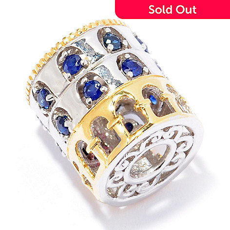 129-244 - Gems en Vogue Sapphire ''Colosseum'' Travel Series Slide-on Charm