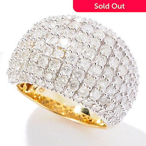 129-270 - Diamond Treasures 14K Gold 3.00ctw Pave Diamond Dome Ring