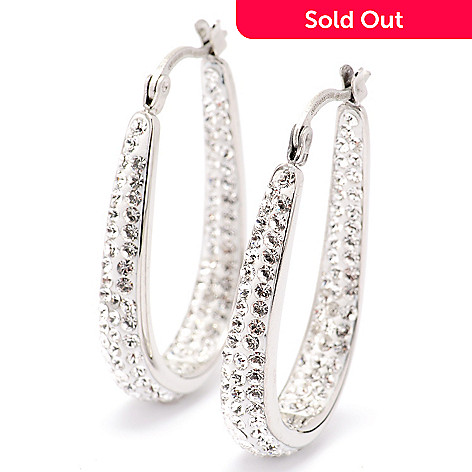 129-288 - Aurora Glitz Swarovski® Crystal Inside-Out Hoop Earrings