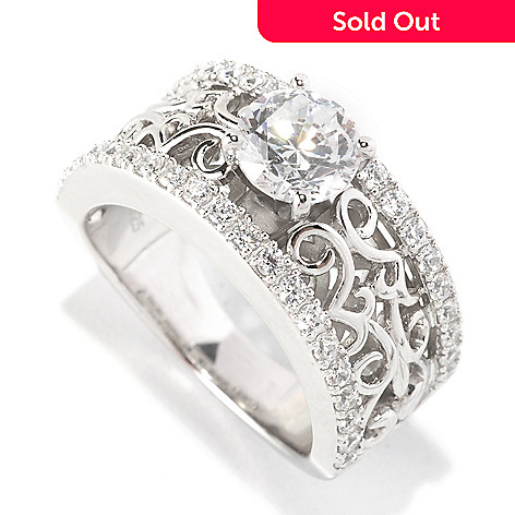 129-300 - Chad Allison™ for Brilliante® Platinum Embraced™ 1.63 DEW Solitaire & Filigree Ring