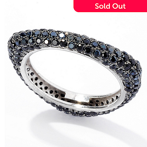 129-401 - NYC II 2.50ctw Black Spinel Pave Triangle Band Ring