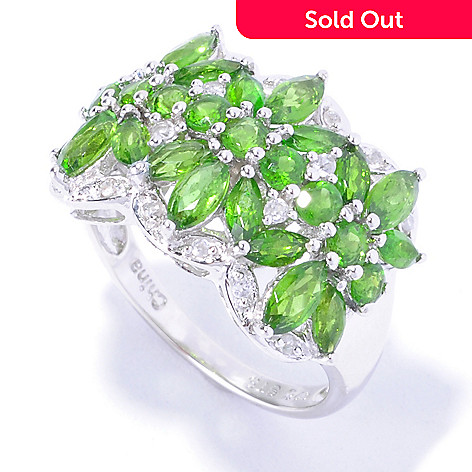 129-405 - NYC II™ 2.29ctw Chrome Diopside & White Zircon Polished Ring