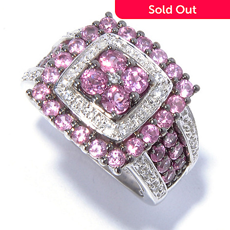 129-406 - NYC II 1.89ctw Pink Spinel & White Zircon Ring