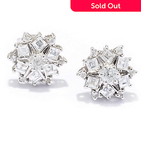 129-408 - NYC II™ 1.00ctw White Zircon Stud Earrings