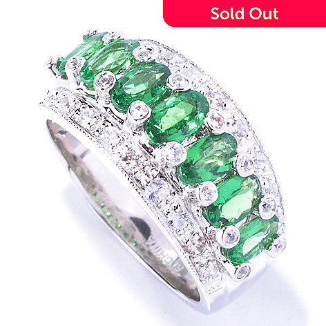 129-416 - NYC II™ 2.08ctw Tsavorite & White Zircon Band Ring