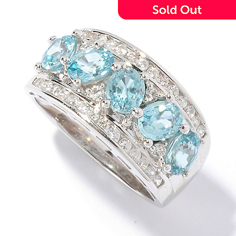 129-427 - NYC II™ 2.85ctw Blue & White Zircon Five-Stone Band Ring