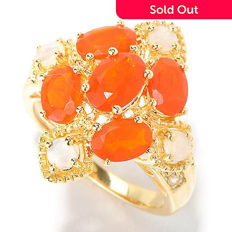 129-428 - NYC II™ 1.85ctw Fire Opal, Australian Opal & White Zircon Ring