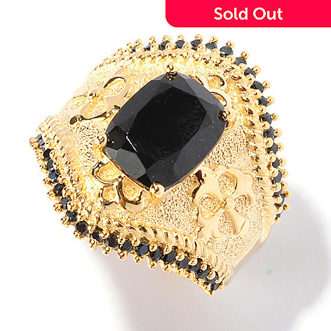 129-430 - NYC II™ 10 x 8mm Black Spinel Textured Ring
