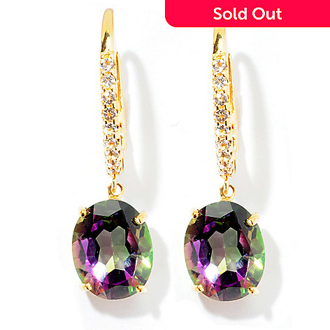 129-480 - NYC II 1'' 6.46ctw Mystic Topaz & White Topaz Drop Earrings
