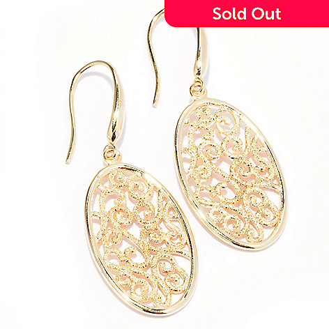 129-507 - Charles Garnier Diamantini Swirl Design Dangle Earrings