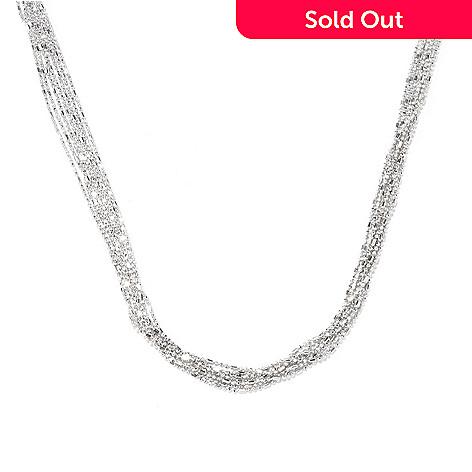 129-519 - Palatino™ Platinum Embraced™ 20'' Diamond Cut Seven-Strand Necklace