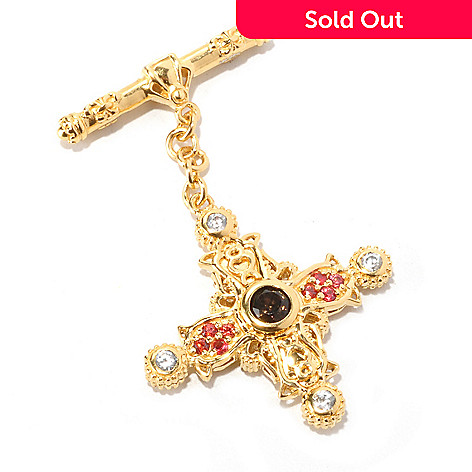 129-521 - Dallas Prince Multi-Gemstone Toggle Charm
