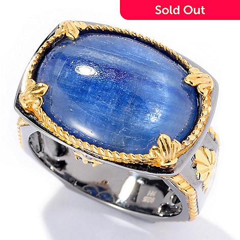 129-532 - Men's en Vogue 20 x 15mm Kyanite & Sapphire Ring