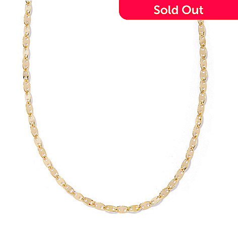 129-538 - Portofino 18K Gold Embraced™ 60'' Polished Mariner Link Chain Necklace