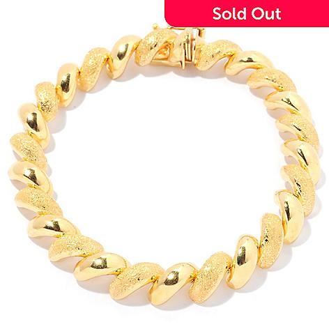 129-539 - Portofino Gold Embraced™ 8'' Alternating Texture ''San Marco'' Bracelet