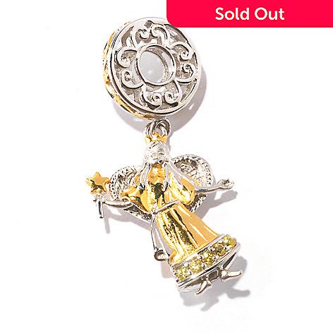 129-545 - Gems en Vogue Yellow Sapphire Angel Drop Charm