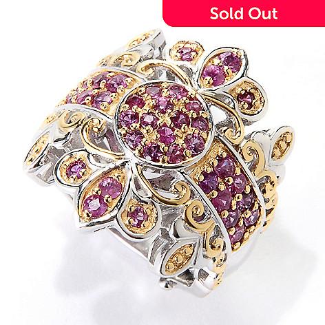 129-547 - Gems en Vogue 1.32ctw Siamese Ruby Band Ring