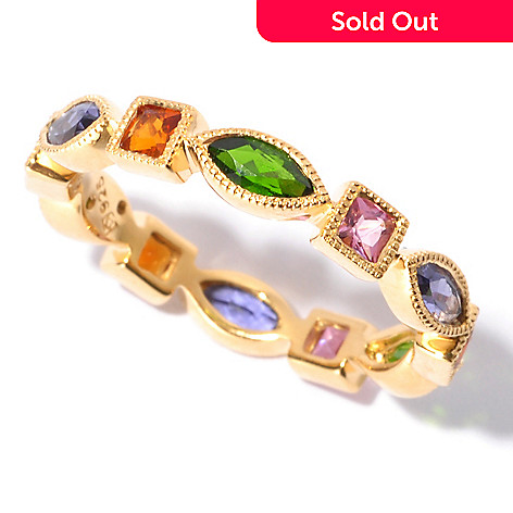 129-561 - NYC II Multi Gemstone Geometric Eternity Band Ring