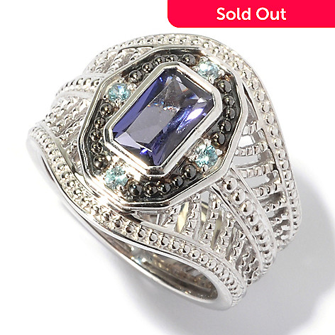 129-564 - NYC II™ Radiant Cut Iolite & Blue Zircon Ring