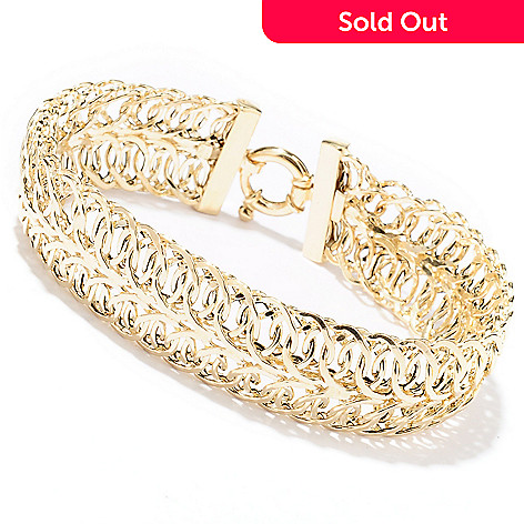129-655 - Italian Designs with Stefano 14K Gold Two-Row Bracelet, 8.36 grams