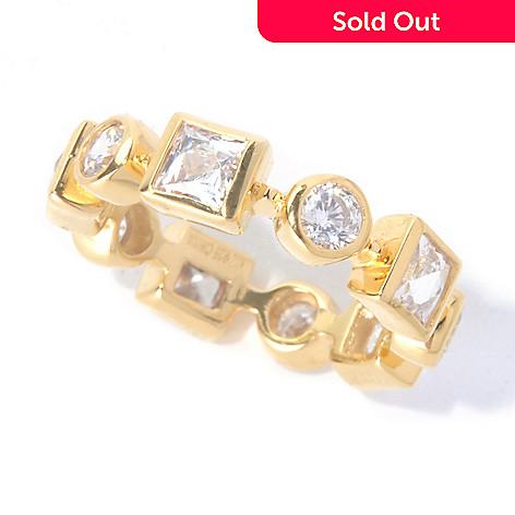 129-772 - TYCOON 2.82 DEW Bezel Set Simulated Diamond Eternity Band Ring