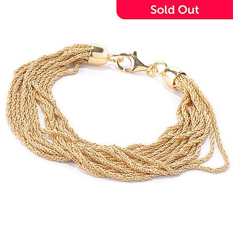129-854 - Portofino Gold Embraced™ 8'' Twisted Chain Multi Strand Bracelet