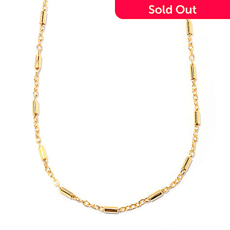 129-865 - Portofino Gold Embraced™ 20'' Polished Rolo & Cylinder Link Necklace