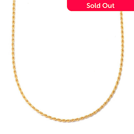 129-868 - Portofino Gold Embraced™ 30'' Adjustable Rope Chain Necklace