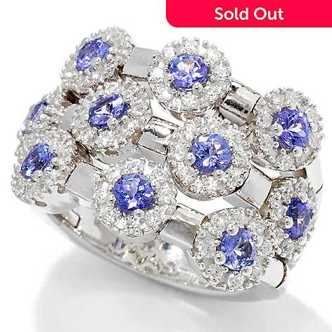 129-879 - Sonia Bitton Genuine Gemstone & Simulated Diamond 10-Stone Dream Fit™ Ring