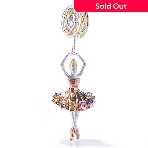 129-936 - Gems en Vogue Multi Color Sapphire Ballerina Drop Charm
