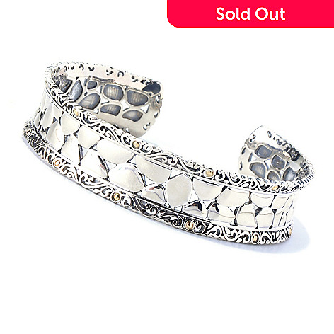 129-949 - Sterling Artistry by EFFY 7.25'' Filigree Cuff Bracelet