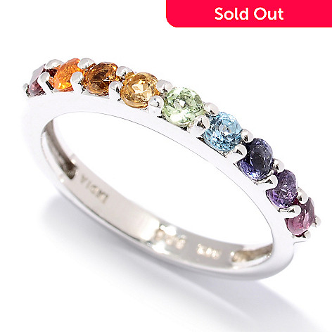 129-972 - NYC II™ Multi Gemstone Rainbow Band Ring