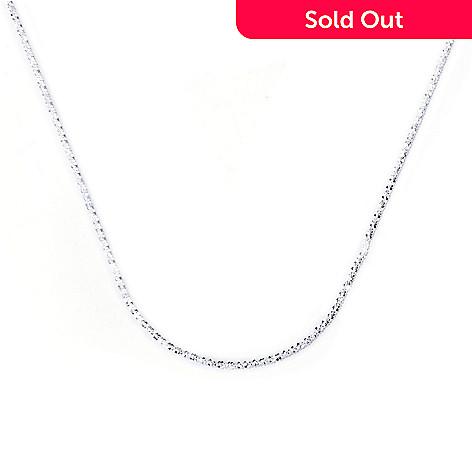 129-989 - SempreSilver® 24'' Sliding Heart Diamond Cut Chain Necklace, 7.3 grams
